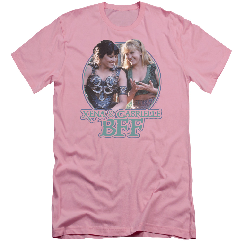 Xena Warrior Princess Bff Mens Slim Fit Shirt