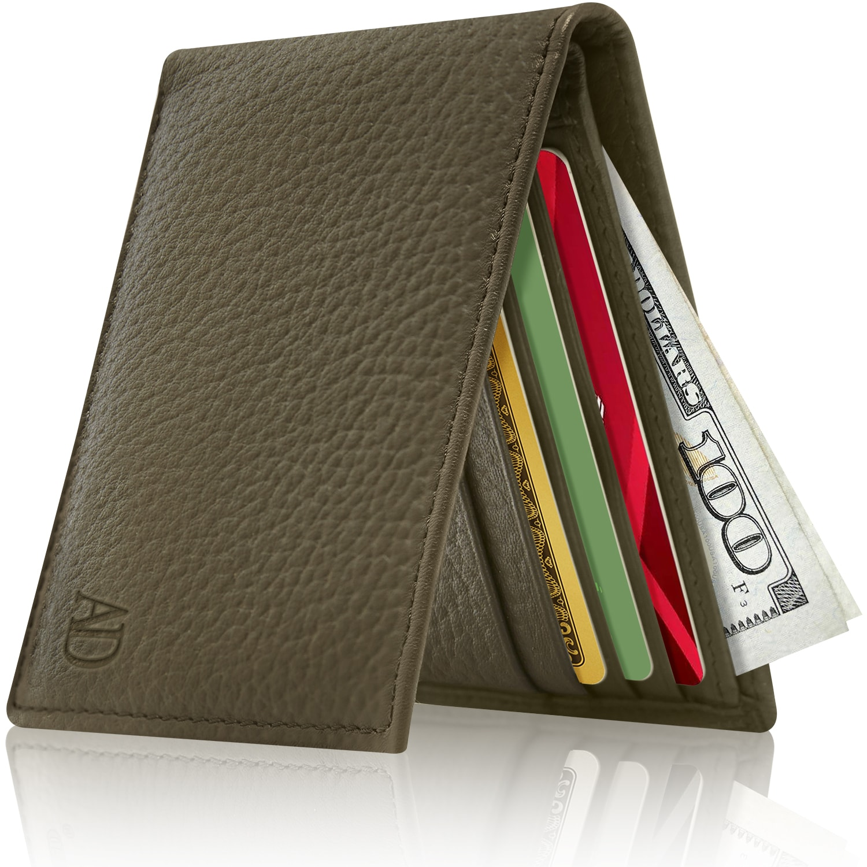 Man/'s Wallet Leather 9 Card Holder 3 ID windows new black brown Billfold Wallet