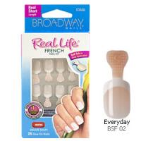 Kiss Broadway Nails Real Life French Nail Kit, Everyday - 1 Ea