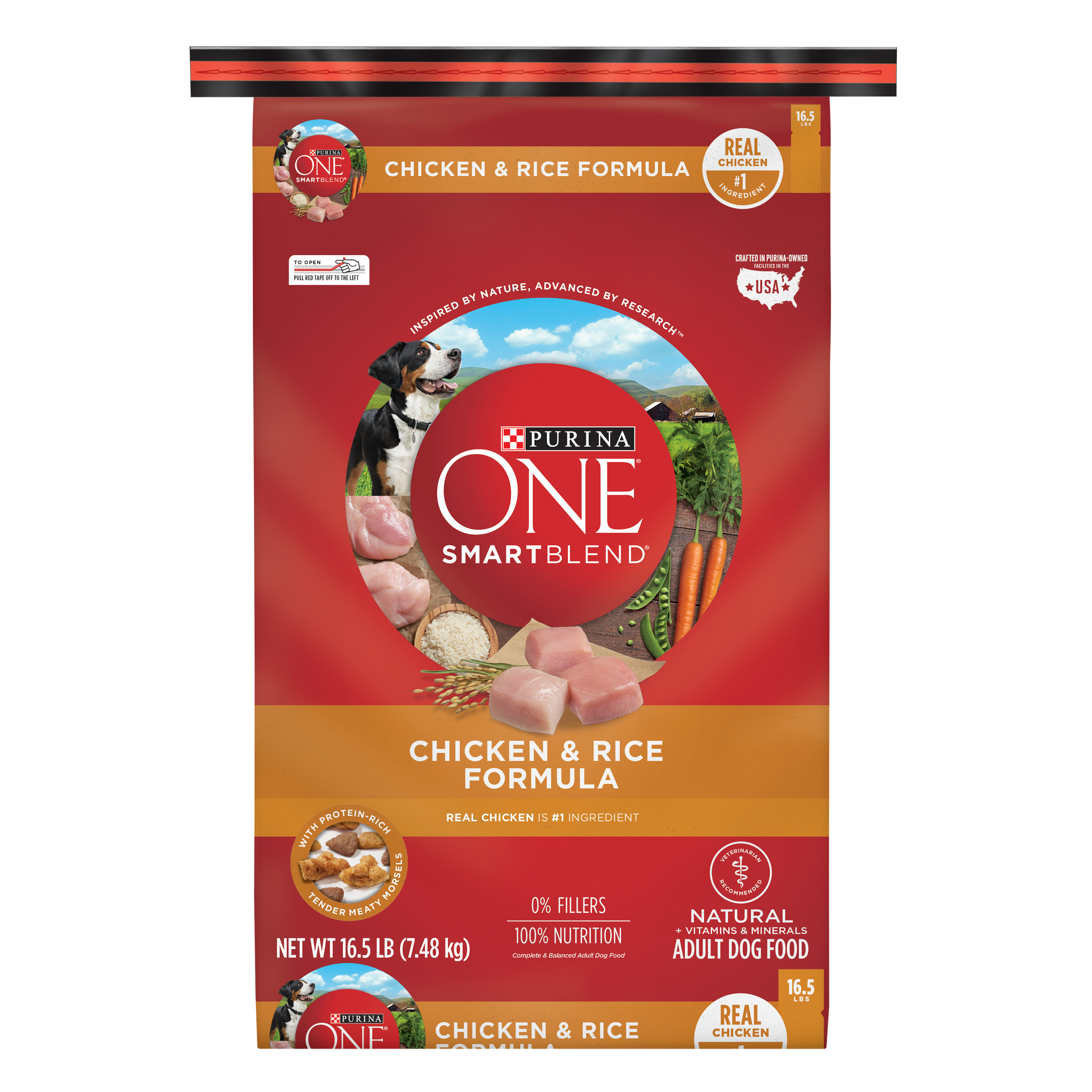 Purina ONE SmartBlend Natural Chicken & Rice Formula Adult Dry Dog Food - 16.5 lb. Bag