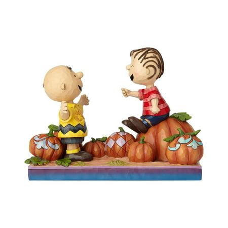 Jim Shore Peanuts 6000980 Charlie Brown And Linus Pumpkin 2018](Peanuts Linus Halloween)