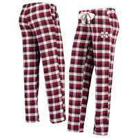 Mississippi State Bulldogs Concepts Sport Women's Piedmont Flannel Pants - Maroon/Black