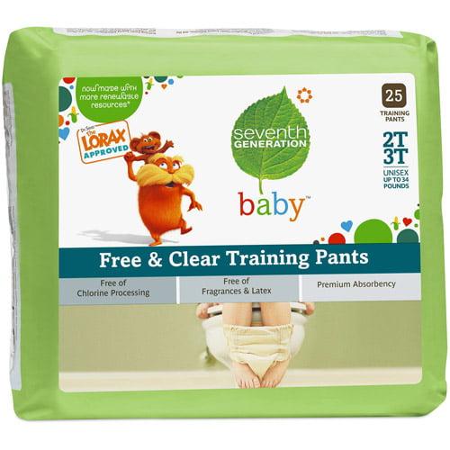 Seventh - Generation Training Pants, 2T-3T, 25 ct