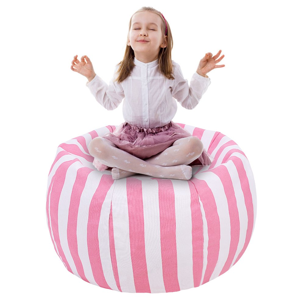 Outstanding Walfront Kids Stuffed Animal Storage Bean Bag Chair With Extra Mental Zipper And Carrying Handle Storage Bean Bag Evergreenethics Interior Chair Design Evergreenethicsorg