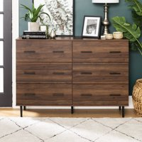 Modern Rustic Wood 6-Drawer Dark Walnut Storage Console by Manor Park