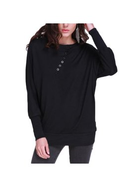 8eb1d5e91db02 Product Image Women Knitted Batwing Long Sleeve Pullover Comfy Blouse.  ZANZEA
