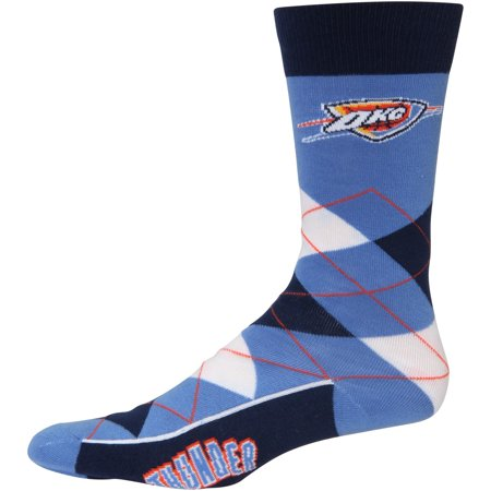 Oklahoma City Thunder For Bare Feet Argyle Crew Socks