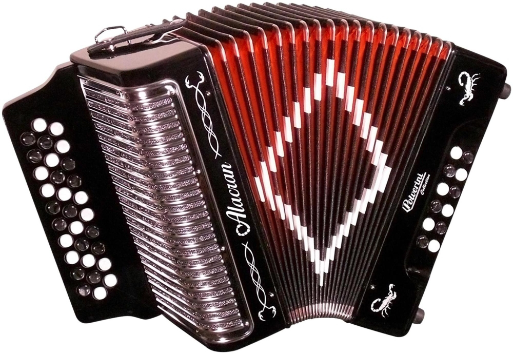 Accordion AL3112 Black with Case by Alacran