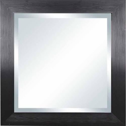 "Better Homes & Gardens Square Sawyer Beveled Mirror - 20"" x 20"", Black"