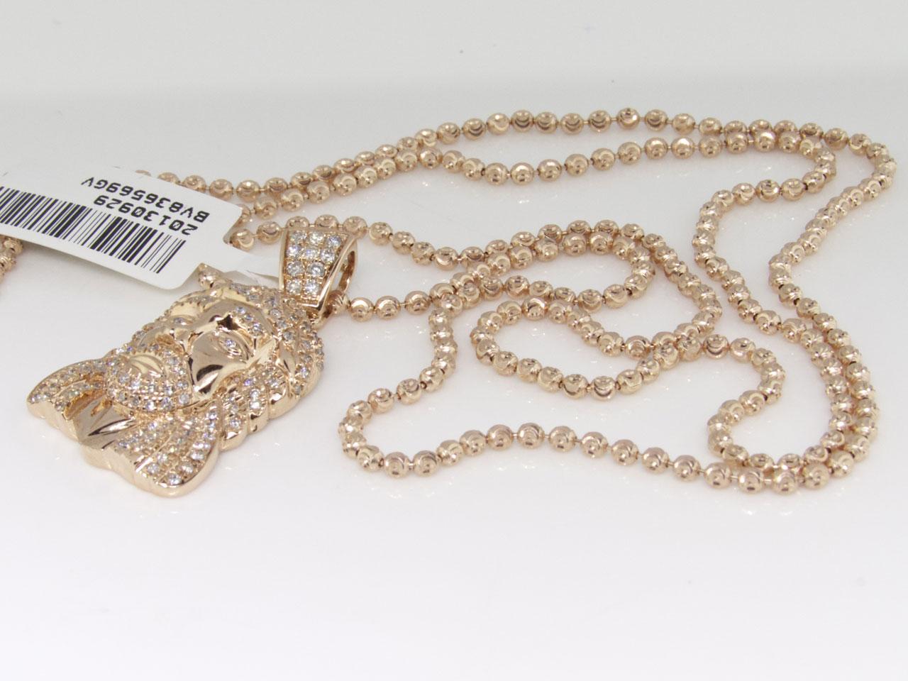 Mini jesus face diamond pendant set in 10k rose gold with chain 10 mini jesus face diamond pendant set in 10k rose gold with chain 10 ct walmart aloadofball Image collections