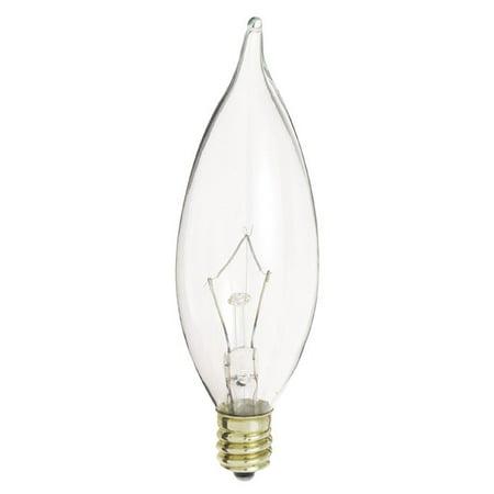 Satco S3275 40W 120V CA9.5 Clear E12 Candelabra Base Incandescent bulb