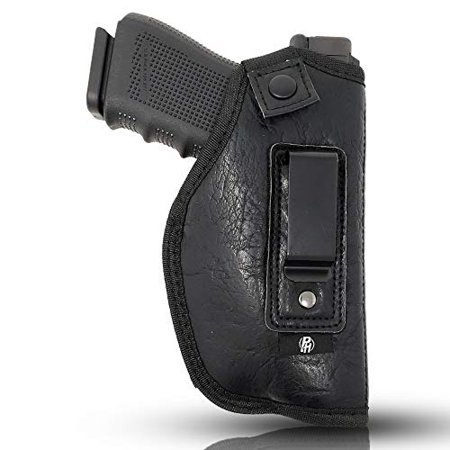 IWB Gun Holster by PH - Concealed Carry Soft Material | Soft Interior | Fits Glock 17 19 23 25 32 38 | Sig Sauer P320 | Springfield XDS 4