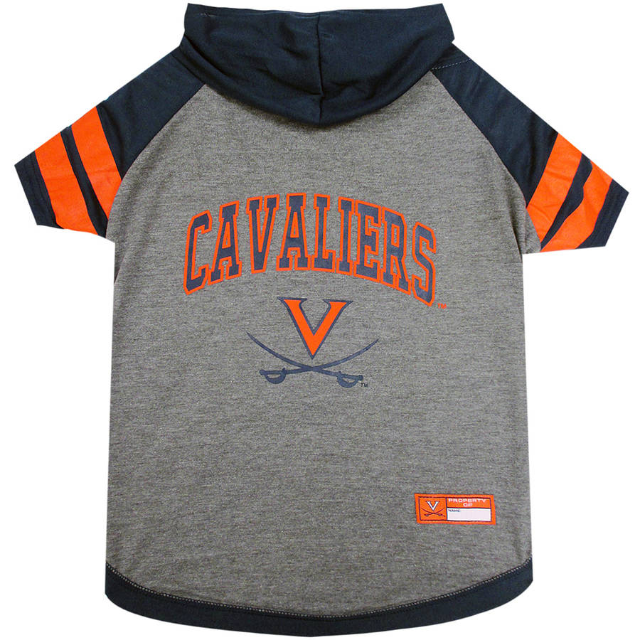 Pets First College Virginia Cavaliers Pet Hoody Tee Shirt, 4 Sizes Available