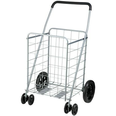 Cyan Cart (Honey Can Do Steel Folding Dual-Wheel Utility Rolling Cart, Gray)
