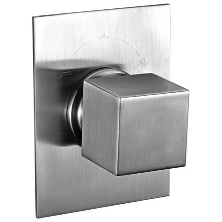 ALFI brand AB9209-BN Brushed Nickel Modern Square 3 Way Shower Diverter ()