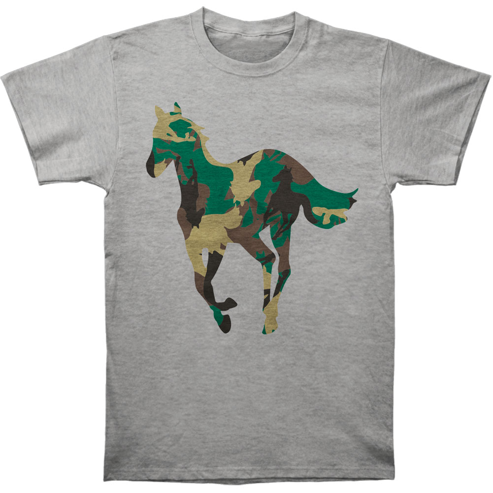 Deftones Men's  Camo Pony T-shirt Heather