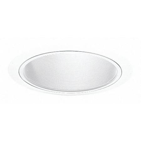 Juno Lighting 25W-WH 6-Inch Straight Downlight Baffle White with White Trim