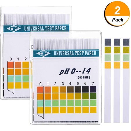 Mother's Day Gift,2PCS pH Test Strips 100ct,Quick and Accurate Result,Measure Full Range 0-14,Universal pH Test Paper Strips for Test Body Acid,Urine,Saliva,Water,Pool,Hot Tub,Hydroponics and