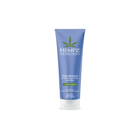 Hempz Triple Moisture Herbal Whipped Crème Body Wash- 8.5 oz.