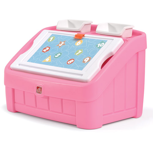 Step2 2-in-1 Art Toy Box, Pink