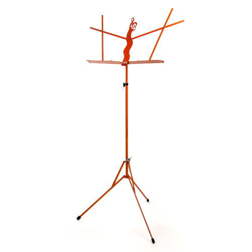 Folding Music Stand With Bag Orange by