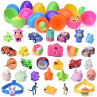 Easter Eggs Filled 48 Pieces for Kids Party Favors