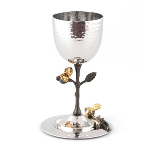The Holiday Aisle Southworth Stainless Steel Stemmed Wine Glass Walmart Com Walmart Com