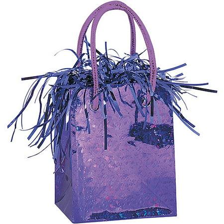Mini Deep Purple Prism Gift Bag Balloon Weight