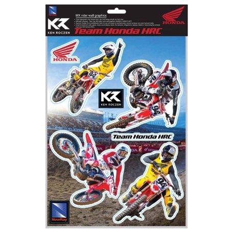 """New Ray Motorcycle Ken Roczen Decal Sticker Sheet 9""""x12"""" SS-90001"""