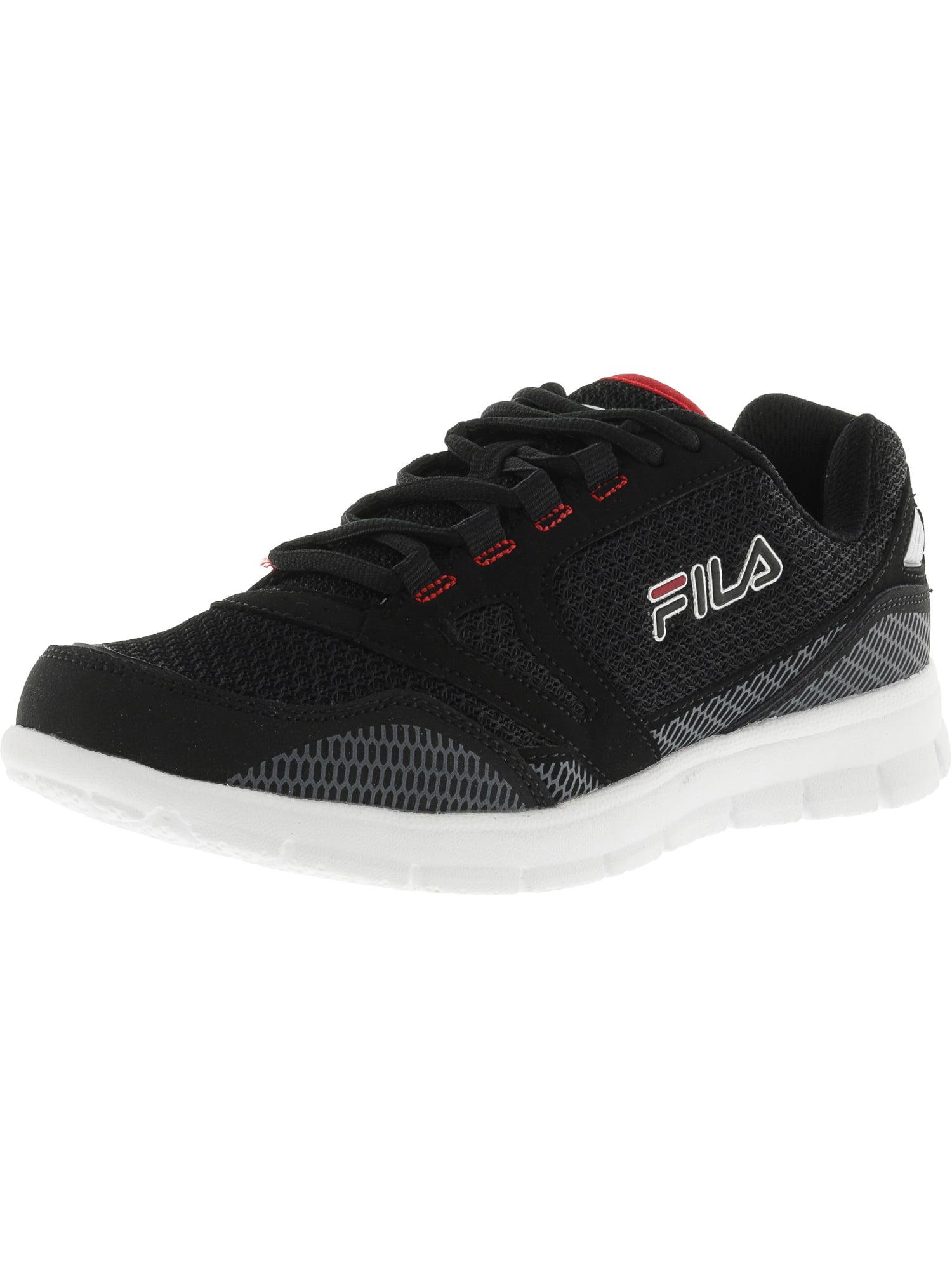 Fila Men's Direction Black   Castlerock Red Low Top Running Shoe 14M by Fila