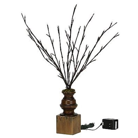 WILLOW TWIG on PEDESTAL, Lighted Branches, 60 Lights, Primitives by (Willow Twig)