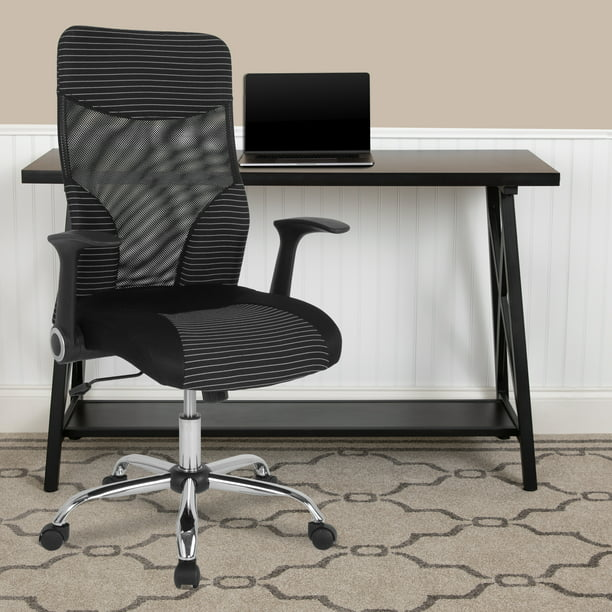 Flash Furniture Milford High Back Ergonomic Office Chair with Contemporary Mesh Design in Black and White
