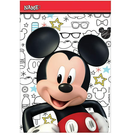 Mickey Mouse Clubhouse Treat Bags, Pack of 8, Party Supplies, 8 treat bags By American Greetings Ship from