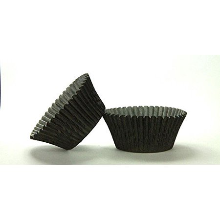 Spiderman Cupcake Wrappers (50pc Solid Black Color Standard Size Cupcake Baking Cups Liners)