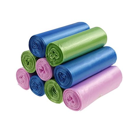 Cand 3 Gallon Garbage Bags Colorful Clear Trash Bags for Office Home 9 Rolls / 180 Counts - image 1 of 1
