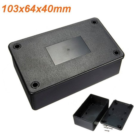 Grtsunsea Waterproof ABS Plastic Electronic Enclosure Project Box Black 103x64x40mm Electrical -