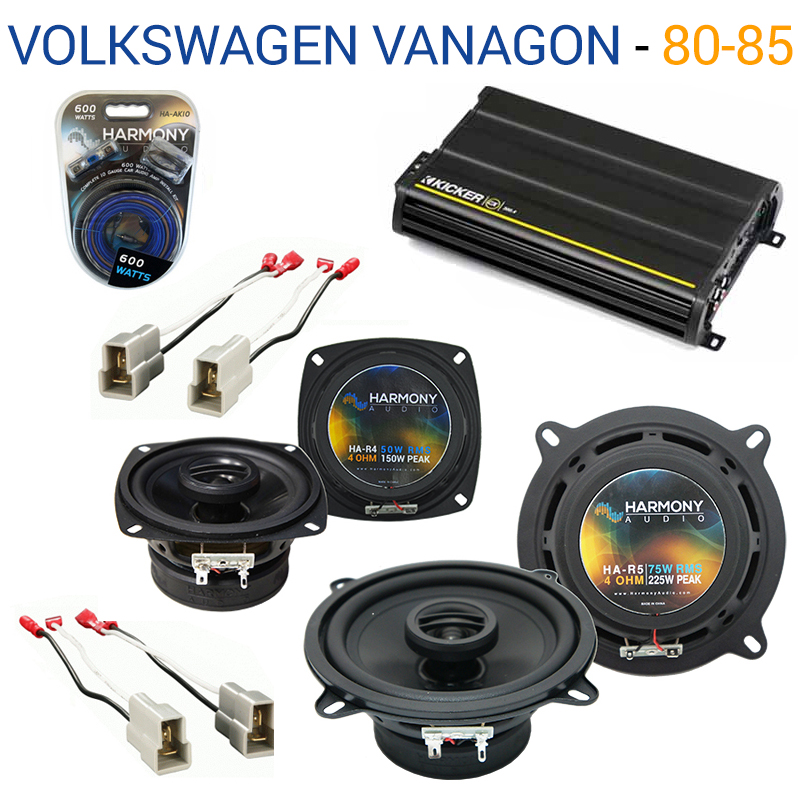 Volkswagen Vanagon 80-85 OEM Speaker Replacement Harmony R4 R5 & CX300.4 Amp - Factory Certified Refurbished