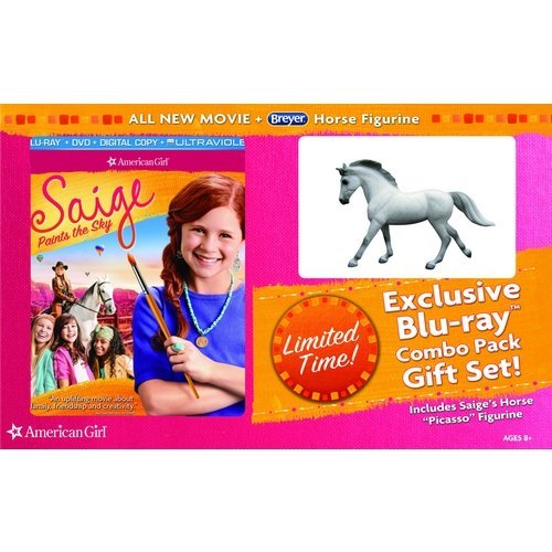 American Girl: Saige Paints The Sky (Blu-ray + DVD + Digital Copy + Picasso Horse Figurine) (Walmart Exclusive)