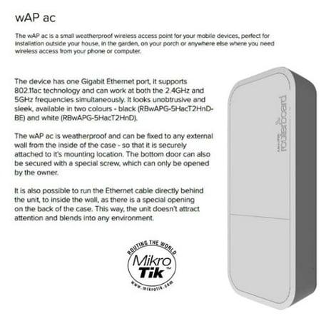 Mikrotik wAP ac Weatherproof Wireless Access Point RBwAPG-5HacT2HnD