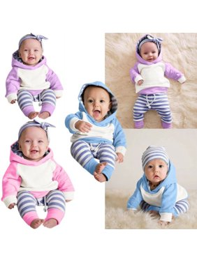 Baby boy Girls Hoodie pants Outfits Casual clothes Autumn Winter Warm Sweatshirt