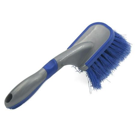 Portable Plastic Handle Blue Soft Bristle Car Automobile Washing Cleaning Brush