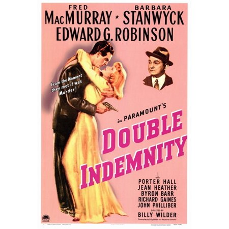 Double Indemnity Movie Poster Print  27 X 40