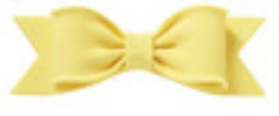 Cake Decoration Gum Paste Bow- Solid Yellow
