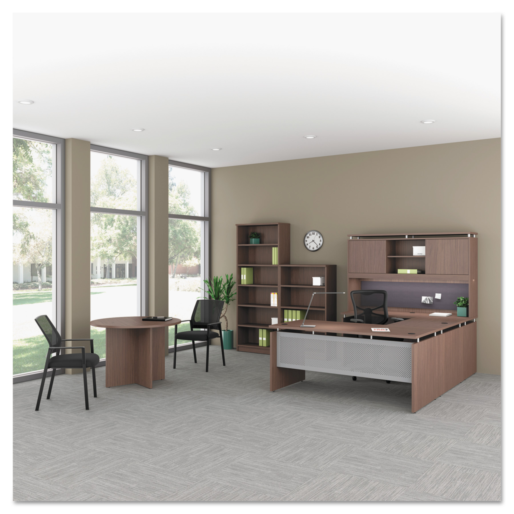Alera Sedina Series Straight Front Desk Shell, 66w x 30d x 29 1/2h, Espresso