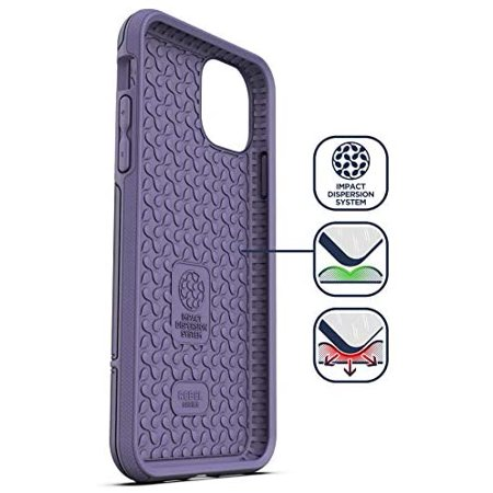 Encased Heavy Duty iPhone 11 Protective Case Purple (2019 Rebel Armor) Military Grade Full Body Rugged Cover - image 4 of 5