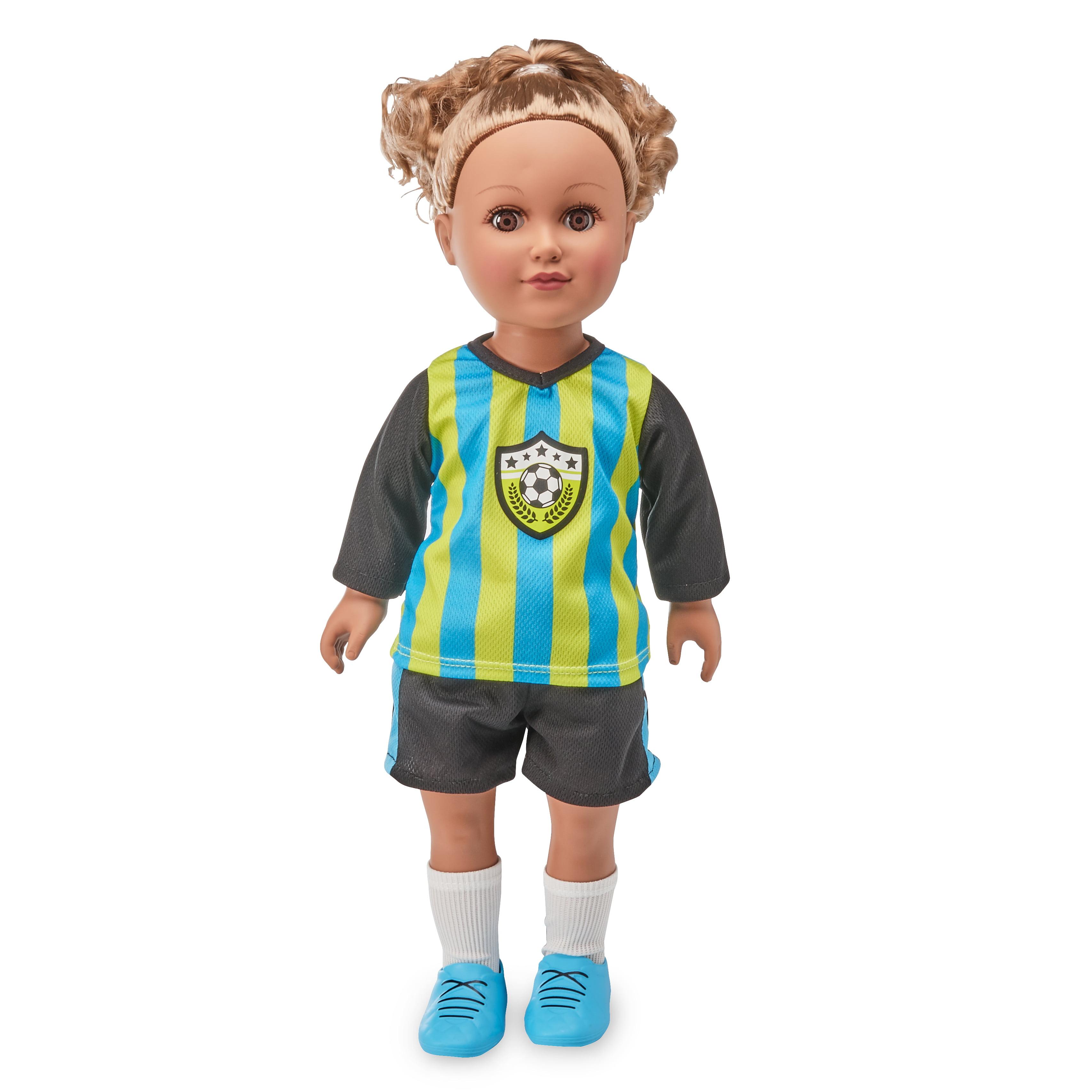"My Life As Soccer Captain, 18"" Doll, Light Brown Hair"