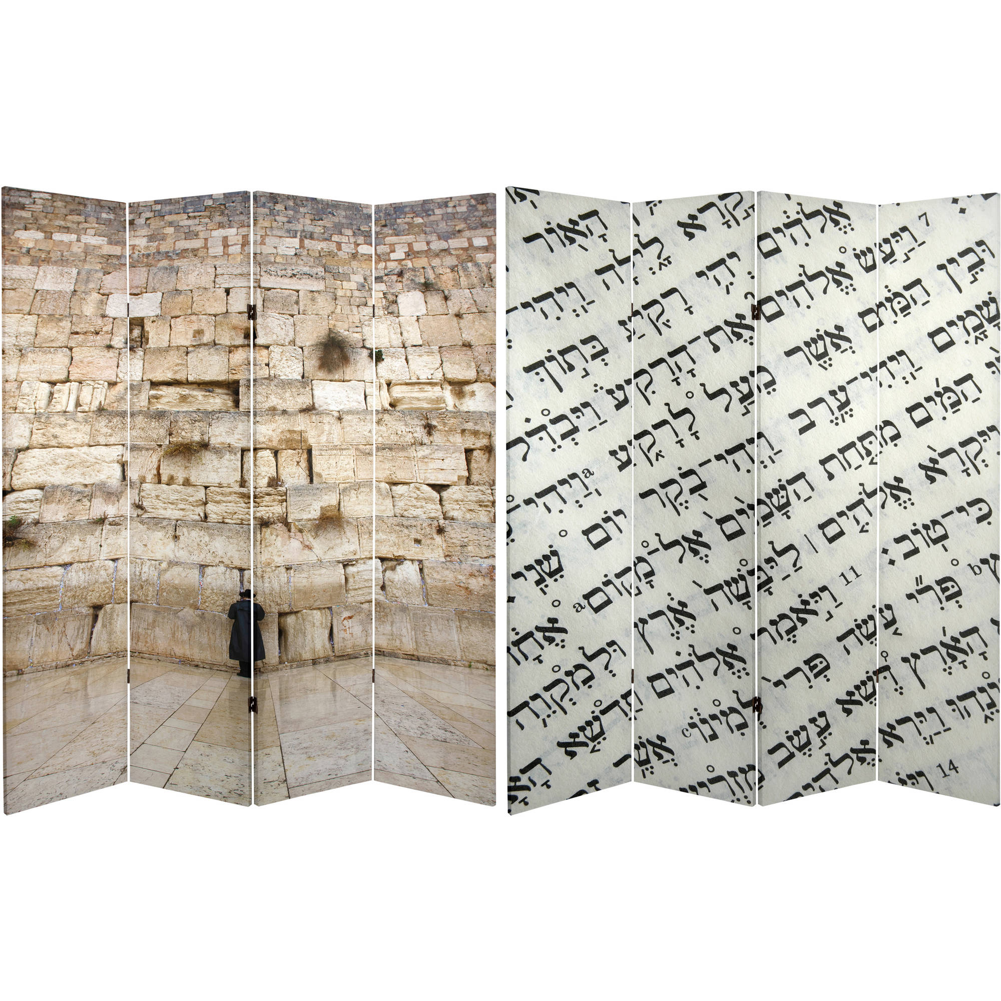 6' Tall Double Sided Wailing Wall Room Divider