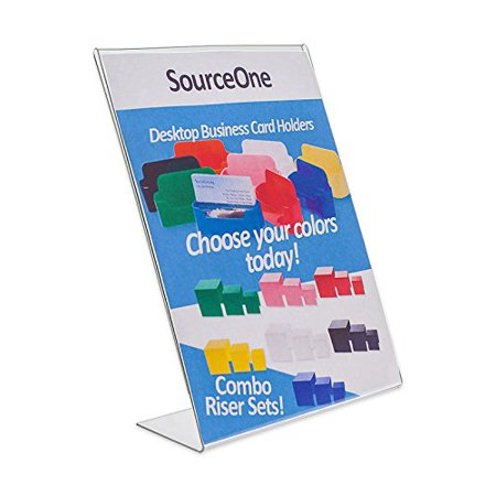 Source One 4 x 6 Inches Slant Back Clear Acrylic Sign Holder Ad Frame Picture Frame (S1-4x6-1) - image 1 de 1