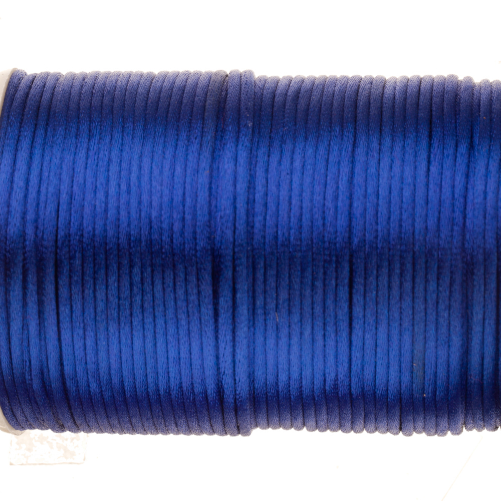 Royal Blue Soutache Woven Round Cord Wax Treated Soft Drape 2mm