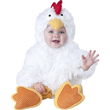 Cluckin' Cutie Infant Costume White - image 1 of 1